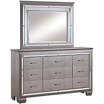 furniture of america rachel 9 drawer led dresser and mirror set kitchen dining. Black Bedroom Furniture Sets. Home Design Ideas