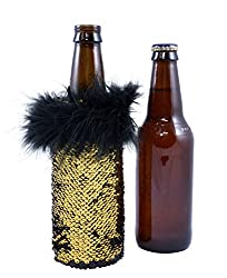 Gold Sequin Sleeve Bottle Coolers