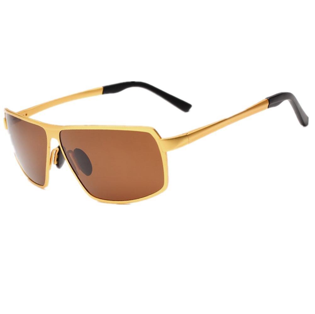 HETAO personalidad Nuevo Gafas De Sol Polarizadas Hombre Gafas De Sol Conducir Espejo , gold Vidrios decorativos: Amazon.es: Deportes y aire libre