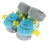 monster feet socks - Stephan Baby Rattle Socks, Blue Monsters, 3-12 Months