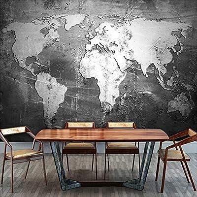 Custom Mural Wallpaper Retro Nostalgia World Map Wall Paper Roll