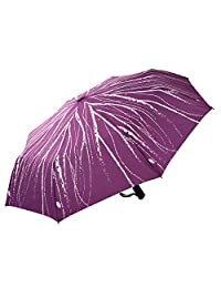 Mosiso Auto Open/Close Windproof Wind Tested 55MPH Travel Sturdy Folding Umbrella for Men and Women, Purple Lifeblood