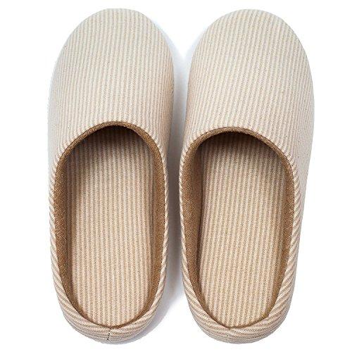 Pantaloncini Di Tela Antiscivolo In Cotone Antiscivolo Per Uomo E Donna, Scarpe Casual Beige Nere (taglia 5,5-6,5)