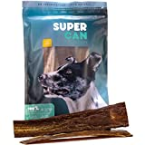 SUPER CAN BULLYSTICKS 12-inch Premium Taffy Esophagus Strips [ 10 Pack ] 100% Natural Free Range Dog treats & Chews. (9 oz)