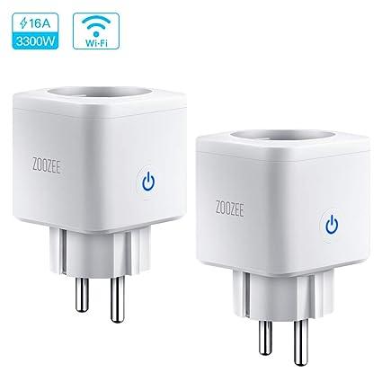 Enchufe Inteligente WiFi Smart Plug Control remoto zoozee Toma de corriente inalámbrica para iOS Aplicación de