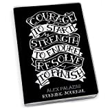 Courage to Start Tattoo Running Journal | Paper Journal by Gone For a Run | Black
