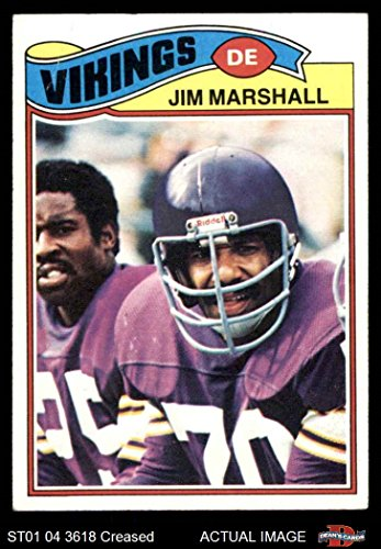 1977 Topps # 105 Jim Marshall Minnesota Vikings (Football Card) Dean's Cards 3 - VG Vikings