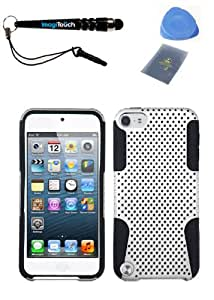 IMAGITOUCH(TM) 4-Item Combo APPLE iPod touch (5th generation) White Black Astronoot Phone Hard Case Protector Faceplate Cover (Stylus pen, ESD Shield bag, Pry Tool, Phone Cover)