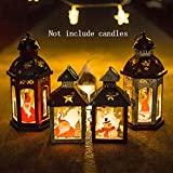 INLAR Iron Candle Holder,Christmas Candle Lantern