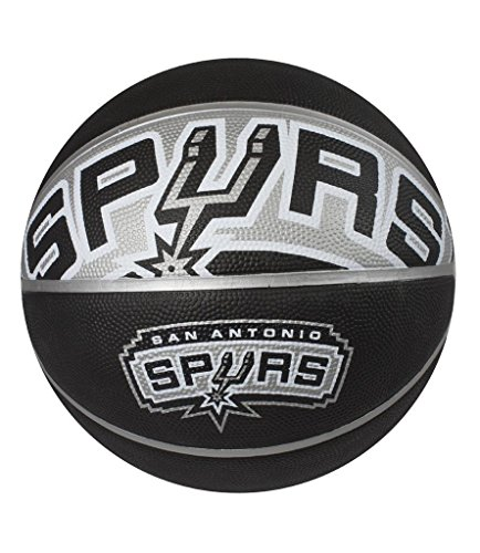Spalding NBA Courtside Team Outdoor Rubber Basketball San Antonio Spurs