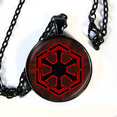 (Star Wars inspired SITH Necklace - black, the dark side)
