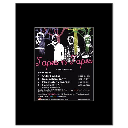 Music Ad World Tapes N Tapes - UK Tour 2006 Mini Poster - 14x11cm