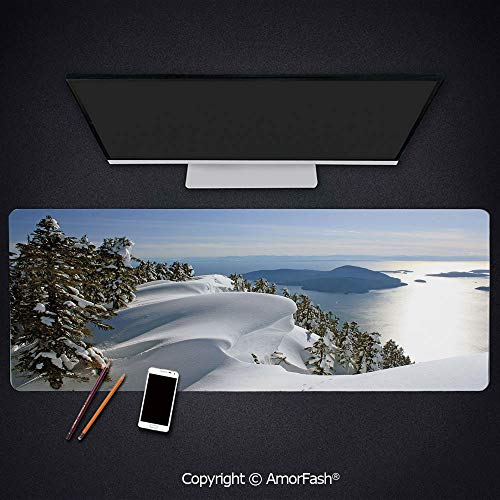 Heat Transferred Printing Waterproof Keyboard Pad,Large Mouse Mat for Gamer,4mm Thick,31.5