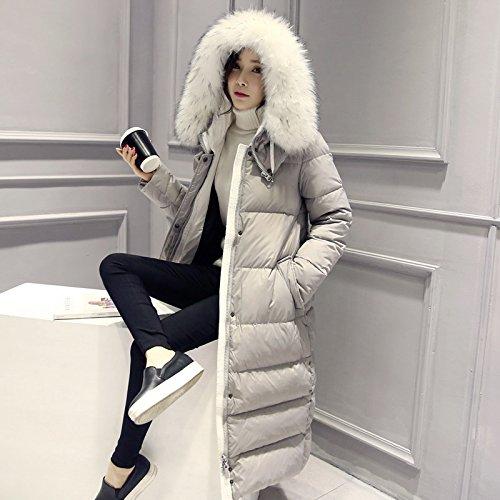 Generic 2015_ new winter jacket longer_section_thicker_ovo_ collar long down jacket coat Women girl _knee