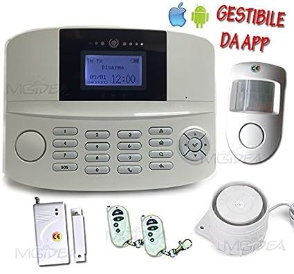 Kit Alarma Casa antirrobo inalámbrico GSM pantalla LCD ...
