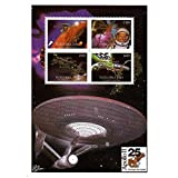 Space stamps for collectors and the Starship Enterprise from Star Trek - Spaceships - 4 space themed stamps ideal for collecting - superb condition - Mint NH