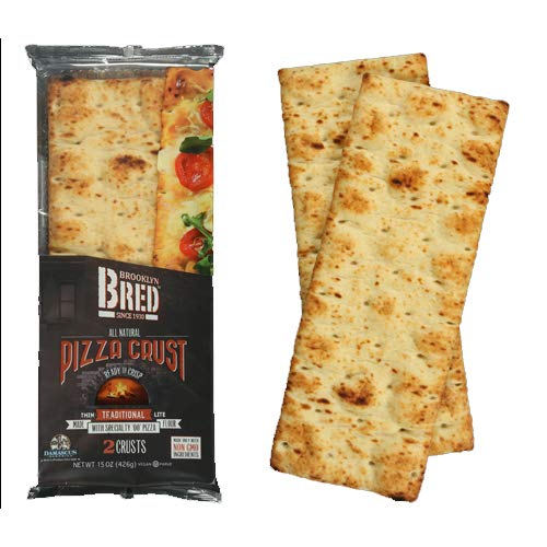 Brooklyn Bred All Natural Pizza Crust, Non GMO, Vegan,Thin Traditional Lite, 2 Crust 15 oz