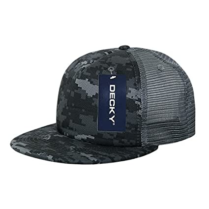 85ce3f27577 Image Unavailable. Image not available for. Color  DECKY Flat Bill Camo  Foam Trucker ...