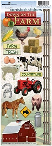 Paper House Productions STCX-0094E Cardstock Stickers, On the Farm (6-Pack) ()