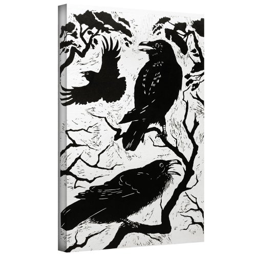 ArtWall Nat Morley 'Ravens' Gallery Wrapped Canvas Artwork, 36 by - Stores Morleys