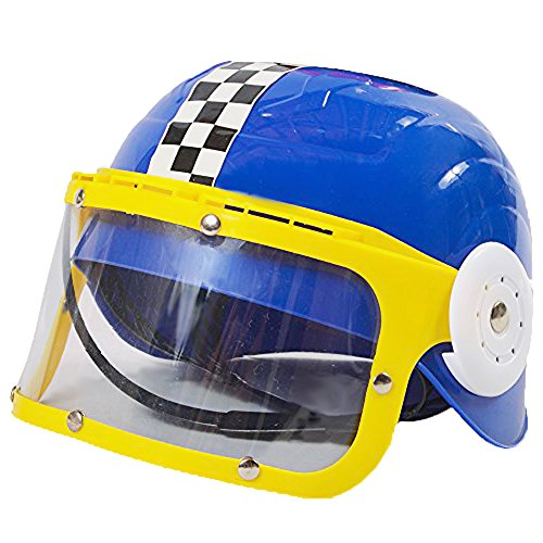 Childrens Plastic Racing Stock Car Driver Costume Helmet -