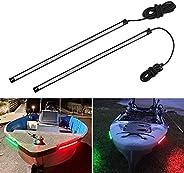 Obcursco 12 Inch LED Boat Bow Navigation Light Kits for Marine Boat Vessel Pontoon Yacht Skeeter