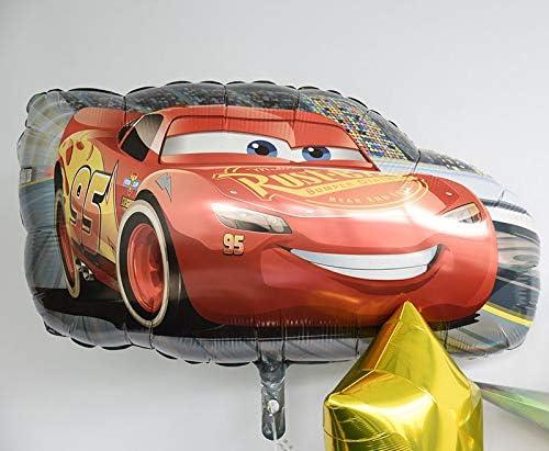 ディズニー ピクサー 浮かせてお届け ヘリウムガス入り カーズ ライトニングマックイーン マックイーン のバルーン スター ブーケ サブバルーン付き 星の色 青 誕生日 飾り付け バルーン電報 結婚式 車