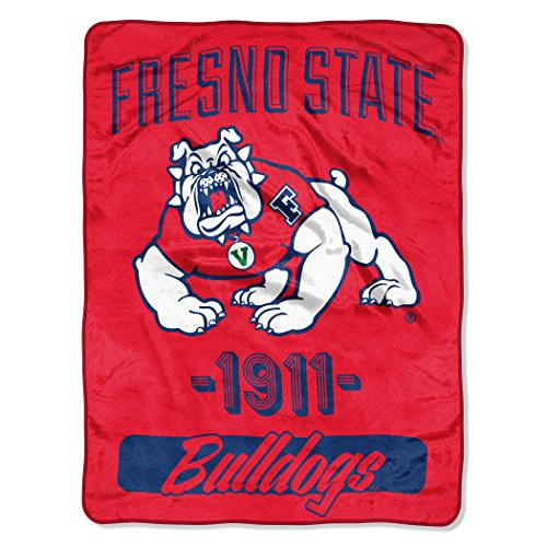 (The Northwest Company Officially Licensed NCAA Fresno State Bulldogs Varsity Micro Raschel Throw Blanket, 46