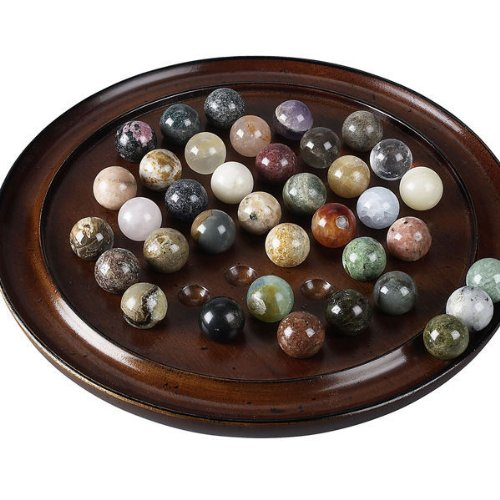 Authentic Models Solitaire Di Venezia 20mm Semi-Precious Marbles Solitaire Dice Games