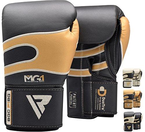 (RDX Bazooka Boxing Gloves Muay Thai Training Leather Sparring Punching Bag Mitts kickboxing Fighting)