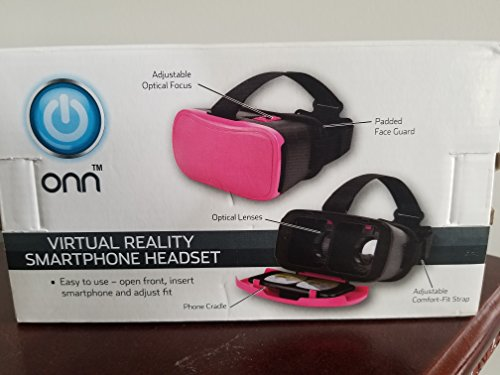 Virtual Reality Smartphone Headset (Pink) from ONN