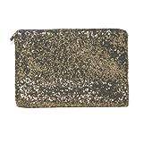 HuaYang Fish Scales Clutch Handbag Paillettes Wallet Purse Credit Card Pocket Bag(Gold)