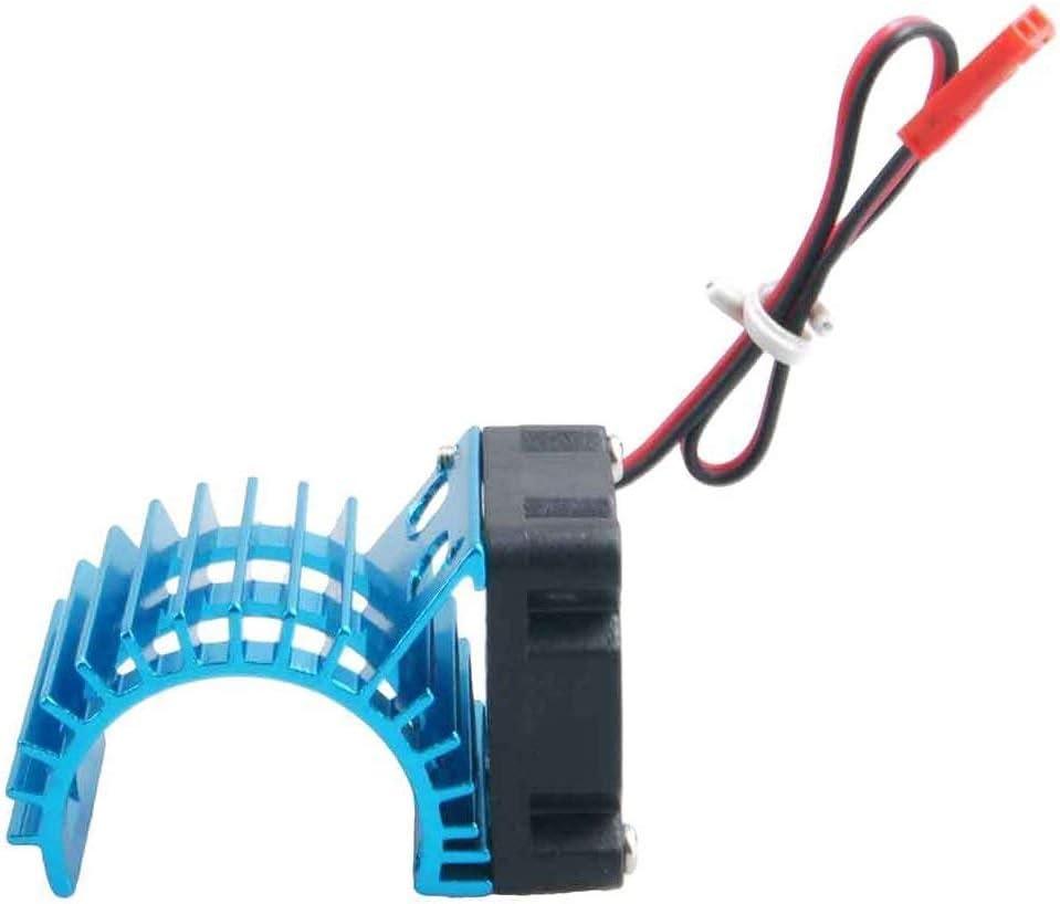 Blu SODIAL Radiatore del Dissipatore di Calore del Motore con Ventola di Raffreddamento per Motore RC 380 390 1//10 HSP RC
