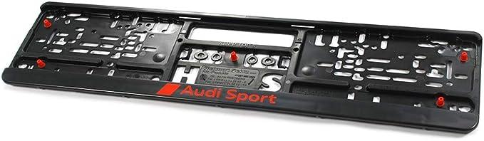 Audi Sport Gmbh 3291900100 Kennzeichenhalter Original Sport Kennzeichen Halterung Schwarz Rot Auto