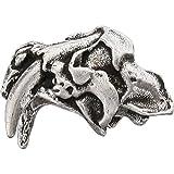 Schmuckatelli Co SMUKSTP-BRK Sabretooth Skull Bead Pewter For Sale