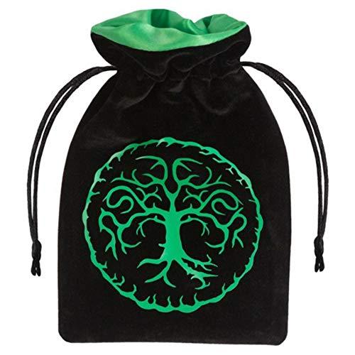Forest Black Green Velour Dice
