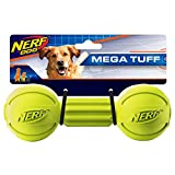 Nerf Dog Barbell Chew Dog Toy, Large, Green