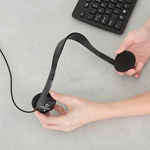 Egghead- 1000 Black Stereo Headphones