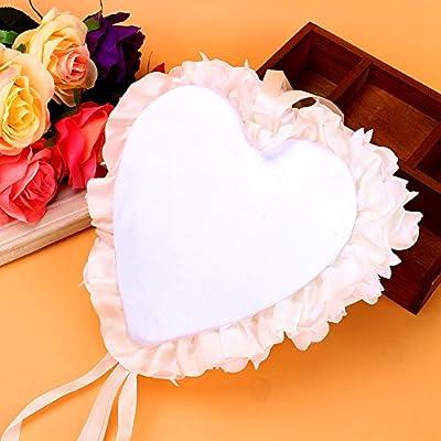 Cojín de Las Alianzas de boda portador almohada de anillo con ...