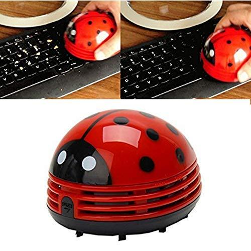 Ladybug Cartoon Mini Vacuum Cleaner Cordless Corner Desktop Vacuum Cleaner Mini Cute Vacuum Cleaner Dust Sweeper Battery Operated