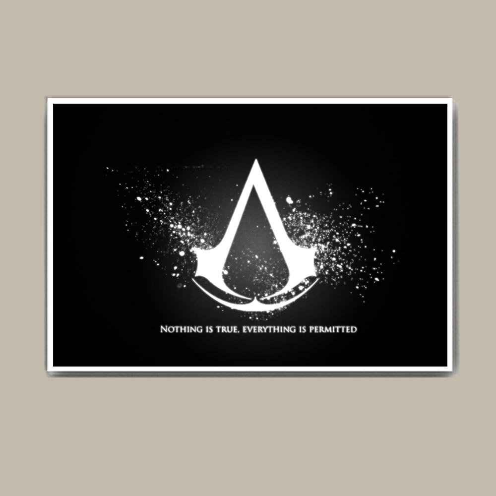 Assassin S Creed Quotes Thick Jumbo 3mm Poster 18x24 Inch Amazon