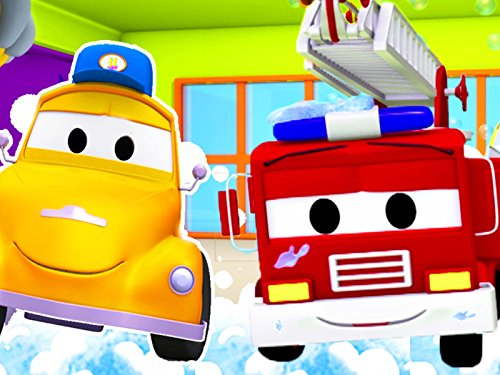 Tom's Car Wash : Franck the Firetruck / Jerry the Racing - Famous Brands English