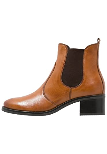 1e77ff32bdc8c0 Pier One Damen Chelsea Boots mit Absatz - Veloursleder Halbstiefelette