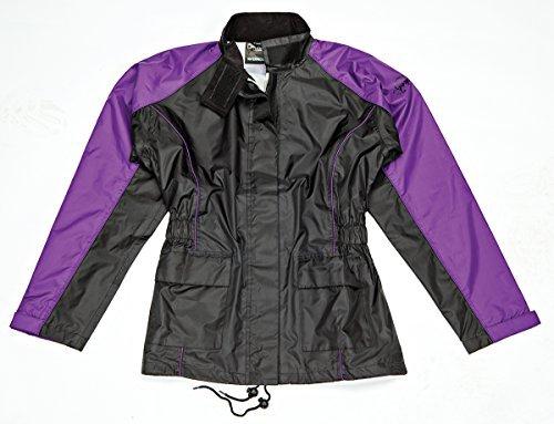 Joe Rocket RS-2 Womens 2-Piece Rainsuit Purple/Black Xlarge