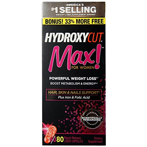 HYDROXYCUT Pro Clinical Max! for Women Weight Loss 80 ea by Hydroxycut