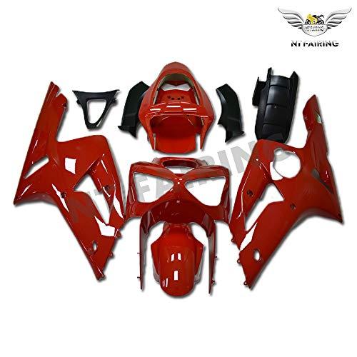 New Red Fairing Fit for Kawasaki Ninja 2003 2004 ZX6R 636 ZX-6R Injection Mold ABS Plastics Aftermarket Bodywork Bodyframe 03 04