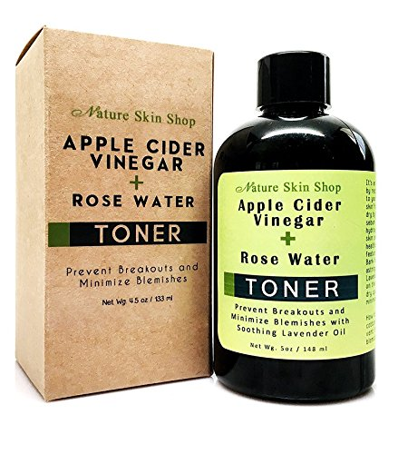 Apple Cider Vinegar + Rose Water Toner - Prevent Breakouts and Minimize Blemishes with Soothing Lavender Oil, ACV Face Toner