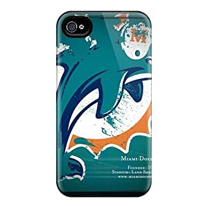 Iphone 4/4s Case Bumper Tpu Skin Cover For Miami Dolphins Accessories