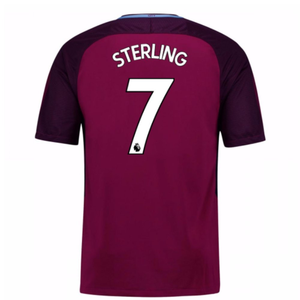 2017-18 Man City Away Football Soccer T-Shirt Trikot (Raheem Sterling 7) - Kids