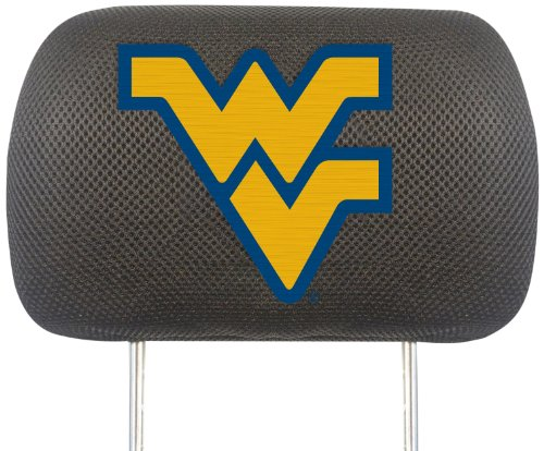 FANMATS NCAA West Virginia University Mountaineers Polyester Head Rest Cover by Fanmats